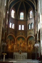 Eglise du Centre ou Saint-Clodoald - Deutsch: Chor der katholischen Pfarrkirche Saint-Clodoald in Saint-Cloud