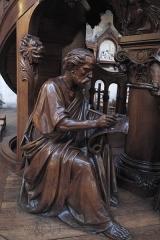 Eglise du Centre ou Saint-Clodoald - Deutsch: Katholische Pfarrkirche Saint-Clodoald in Saint-Cloud im Département Hauts-de-Seine (Île-de-France/Frankreich), Kanzel, Skulptur des Evangelisten Johannes