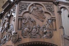 Eglise du Centre ou Saint-Clodoald - Deutsch: Katholische Pfarrkirche Saint-Clodoald in Saint-Cloud im Département Hauts-de-Seine (Île-de-France/Frankreich), Kanzel, Relief mit der Darstellung der Himmelfahrt Christi