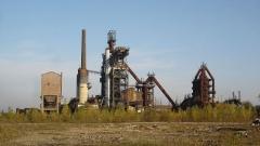 Usine sidérurgique -  Blast furnace U4 in Uckange, Lorraine, France. Now part of the Parc du Haut-Fourneau.
