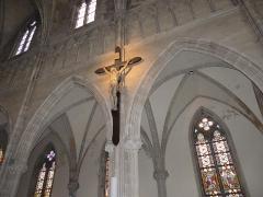 Eglise Saint-Amé - Français:   Le crucifix à la droite du vaisseau, Église Saint-Amé, Plombières-les-Bains (Vosges, Lorraine, France)