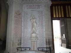 Eglise Saint-Amé - Français:   Monument aux morts de la paroise de l\'église Saint-Amé, Plombières-les-Bains (Vosges, Lorraine, France)