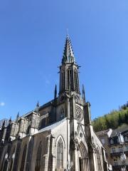 Eglise Saint-Amé - Français:   Plombières-les-Bains (Vosges): clocher de l\'église Saint-Amé