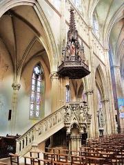 Eglise Saint-Amé - Français:   Chaire de l\'église de Plombières-les-Bains. Vosges.