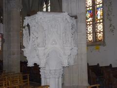 Eglise Saint-Amé - Français:   Détail de la chaire, Église Saint-Amé, Plombières-les-Bains (Vosges, Lorraine, France)