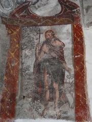 Eglise Saint-Geniès de Benque-Dessous - Français:   Saint Jean Baptiste, fresque du chœur de l\'église Saint-Geniès de Benque-Dessous, Haute-Garonne, France.