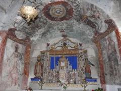 Eglise Saint-Geniès de Benque-Dessous - Français:   Les fresques du chœur de l\'église Saint-Geniès de Benque-Dessous, Haute-Garonne, France.