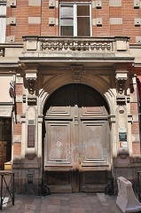 Hôtel Thomas ou Thomas de Montval - Français:   Hôtel Thomas de Montval, XXème siècle, portail. Toulouse.