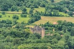 Domaine de Montal - English: View of the castle of Montal from Saint-Laurent-les-Tours, Lot, France