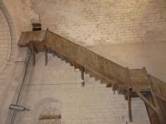 Eglise Saint-Christophe - L'escalier d'accès au clocher, église Saint-Christophe de Vindelle, Charente, France.