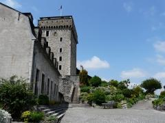 Château fort - Détail du château fort de Lourdes, Hautes-Pyrénées, France.