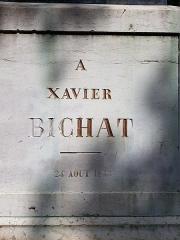 Statue de Bichat - Nederlands: Standbeeld (voet vooraanzicht) van Xavier Bichat in Bourg-en-Bresse