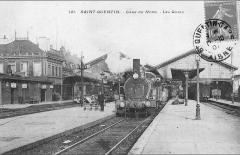 Gare - Français:   Intérieur de la gare vers 1905.