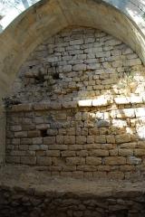 Château de Simiane - Deutsch: Chateau de Simiane-la-Rotonde, Nische links vom Portal im OG