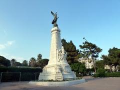 Monument du centenaire de la réunion à la France situé dans le jardin Albert Ier -  Nice. Nice la Belle (Nissa La Bella)