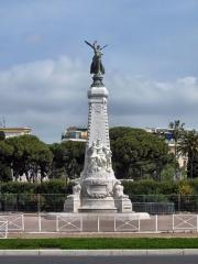 Monument du centenaire de la réunion à la France situé dans le jardin Albert Ier - English: Monument du Centenaire, Nice, France