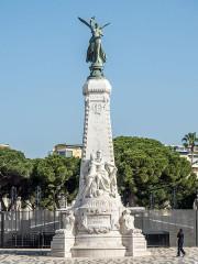Monument du centenaire de la réunion à la France situé dans le jardin Albert Ier - English: Centennial Monument