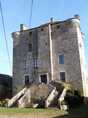 Ancienne grange monastique de Séveyrac - Français:   Grange monastique de Séveyrac: façade ouest donnant dans la cour