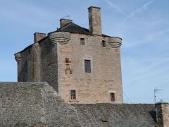 Ancienne grange monastique de Séveyrac - Français:   Grange monastique de Séveyrac: partie supérieure de la tour de la grange monastique