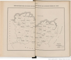 Haras national - Français:   Carte des stations de reproduction des haras nationaux dans les Côtes-du-Nord en 1927