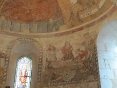 Eglise Saint-Méard - English:   Early 16thc fresco in the Church of St Méard, newly restored