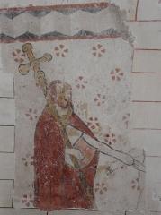Eglise Saint-Méard - Français:   Fresque représentant peut-être saint Mer (saint Méard), église Saint-Méard, Saint-Méard-de-Drône, Dordogne, France.