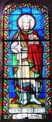 Eglise Saint-Méard - Français:   Vitrail représentant saint Henri, église Saint-Méard, Saint-Méard-de-Drône, Dordogne, France. Vitrail de 1874, signé «Besseyrias à Périgueux».