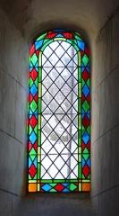 Eglise Saint-Méard - Français:   Vitrail de l\'église Saint-Méard, Saint-Méard-de-Drône, Dordogne, France.