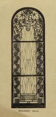 Ateliers de fabrication de vitraux, dits Ateliers Lorin - Français:   photographie de vitrail (1928) dans le catalogue de Charles Lorin et Cie (années 1930), temple protestant de  Moussac,  Gard, France.