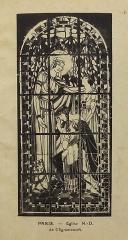 Ateliers de fabrication de vitraux, dits Ateliers Lorin - Français:   photographie de vitrail dans le catalogue de Charles Lorin et Cie (années 1930), église Notre-Dame de Clignancourt, Paris, France.