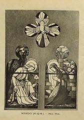 Ateliers de fabrication de vitraux, dits Ateliers Lorin - Français:   photographie de vitrail dans le catalogue de Charles Lorin et Cie (années 1930), église Saint-Étienne, Nomeny, France.