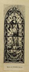 Ateliers de fabrication de vitraux, dits Ateliers Lorin - Français:   photographie de vitrail dans le catalogue de Charles Lorin et Cie (années 1930), église Notre-Dame-de-l\'Assomption de Stains, Seine-Saint-Denis, France.