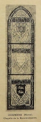 Ateliers de fabrication de vitraux, dits Ateliers Lorin - Français:   photographie de vitrail dans le catalogue de Charles Lorin et Cie (années 1930), chapelle de la Reconnaissance, Dormans, Marne, France.