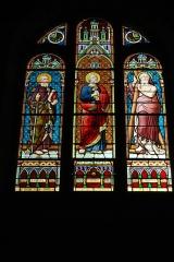 Ateliers de fabrication de vitraux, dits Ateliers Lorin - Français:   Vitrail saint Paul, saint Pierre, saint André, signé \