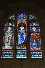 Ateliers de fabrication de vitraux, dits Ateliers Lorin - Français:   Vitrail saint Marcel, saint Ludovic, saint Stéphane, signé \