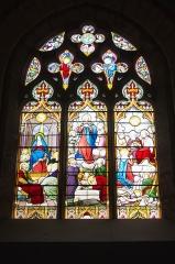 Ateliers de fabrication de vitraux, dits Ateliers Lorin - vitrail de Charles Lorin dans l'église Saint-Cyr-et-Sainte-Julitte de Jouy (Eure-et-Loir, France).