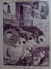 Phares de la pointe de Penmarc'h - Français:   Penmarch: le phare d\'Eckmühl (Le Petit Parisien du 24 octobre 1897)
