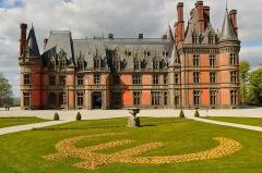 Ancien pavillon de chasse de Moniven - Français:   Château de Trévarez façade Sud