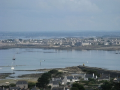 Phare de l'île de Batz - English: General overview of Roscoff from the lighthouse of the Batz island (France)