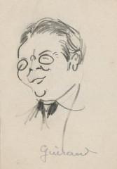 Ancien hospice devenu palais des arts, puis agrandi en lycée, actuel lycée Alphonse Daudet -  Edmond Guiraud: caricature