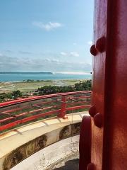 Phare - Français:   L'entrée du bassin d'Arcachon et la dune du Pilat vues du sommet du phare du Cap-Ferret.