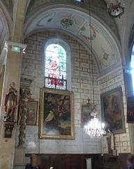 Eglise Saint-Mathieu - Montpellier (Hérault, France), au cœur du quartier historique de l'Écusson, l'intérieur de l'une des plus anciennes églises de la ville, inscrite en totalité en tant que Monument Historique, et exceptionnellement accessible pour les Journées du Patrimoine; deuxième chapelle septentrionale dédiée à St Antoine-de-Padoue.