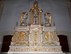 Église Notre-Dame - Français:   Maître-autel de l\'église Notre-Dame d\'Hédé (35).