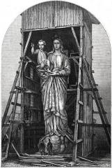 Statue de Notre-Dame de France -  La Vierge colossale du Puy (modèle en plâtre de la statue, dessin de Gagniet).