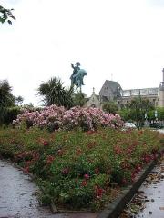 Statue de Napoléon Ier, à Octeville -  Napoléon Bonaparte (1769 - 1821), Cherbourg, Lower Normandy, France