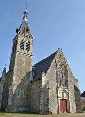 Eglise paroissiale Saint-Sixte - English: vue Ouest, grand portail et clocher