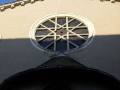 Synagogue - English:   Toul Synagogue 19th century - Rose window above the Torah Ark.