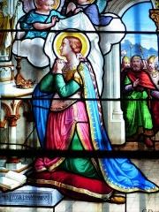 Eglise paroissiale de la Nativité de la Vierge dite Basilique Notre-Dame-de-Sion et ancien couvent des Tiercelins de Sion -   Vitrail de l\'église Notre-Dame de Sion (FR-54)  représentant Ste Glossinde