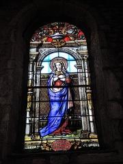 Eglise paroissiale de la Nativité de la Vierge dite Basilique Notre-Dame-de-Sion et ancien couvent des Tiercelins de Sion - Français:   Vitrail de la Vierge. Basilique de Sion. Meurthe-et-Moselle