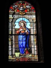 Eglise paroissiale de la Nativité de la Vierge dite Basilique Notre-Dame-de-Sion et ancien couvent des Tiercelins de Sion - Français:   Vitrail du Christ. Basilique de Sion. Meurthe-et-Moselle